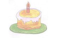 蛋糕简笔画简单画法