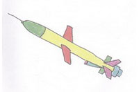 导弹简笔画简单画法