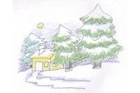 冬天简笔画简单画法