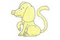 小狗简笔画简单画法