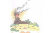 火山简笔画简单画法