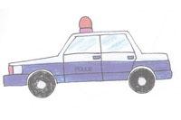 警车简笔画简单画法