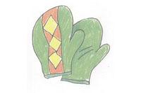 手套简笔画简单画法