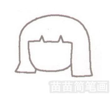《聪明的一休》女主角小叶子简笔画图片步骤一