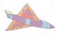 战斗机简笔画简单画法