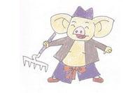 猪八戒简笔画简单画法