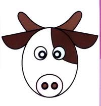 奶牛简笔画怎么画
