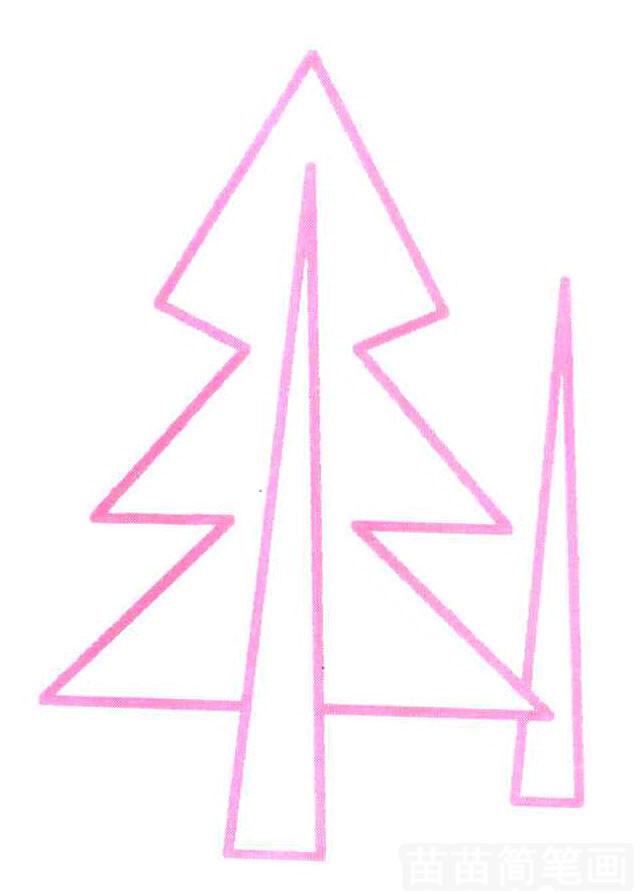 松树简笔画怎么画