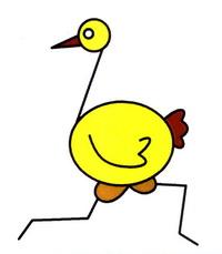 鸵鸟简笔画怎么画