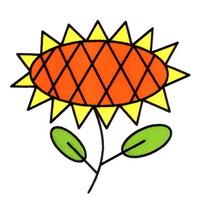 向日葵简笔画怎么画
