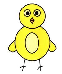 小鸡简笔画图片彩色教程