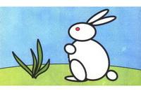 兔子简笔画步骤分解彩色教程