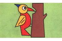 啄木鸟简笔画步骤分解彩色教程