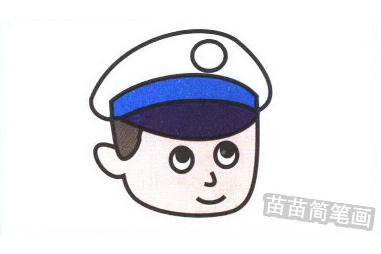 警察彩色简笔画图片