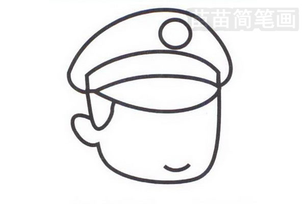 警察简笔画怎么画步骤二