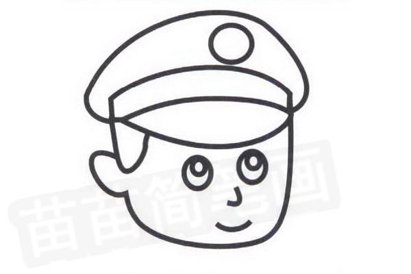 警察简笔画怎么画步骤四