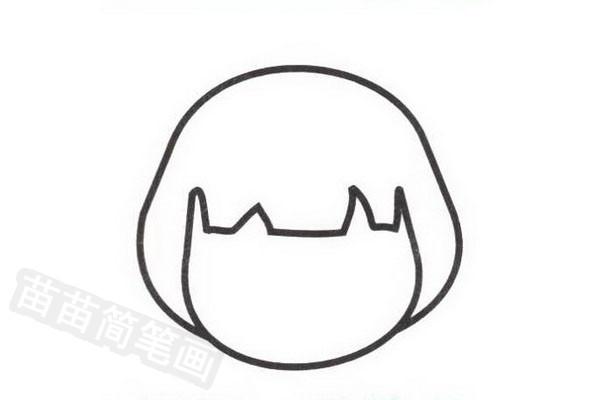 日本人简笔画怎么画步骤一