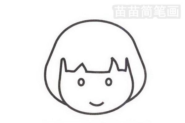 日本人简笔画怎么画步骤二