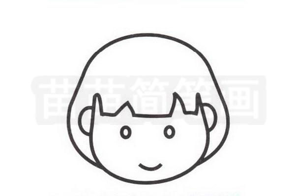 日本人简笔画怎么画步骤三