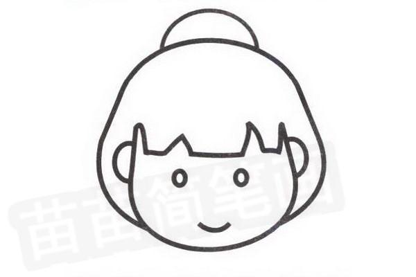 日本人简笔画怎么画步骤四