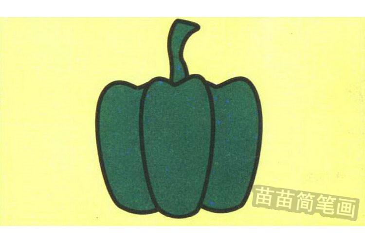 辣椒彩色简笔画图片
