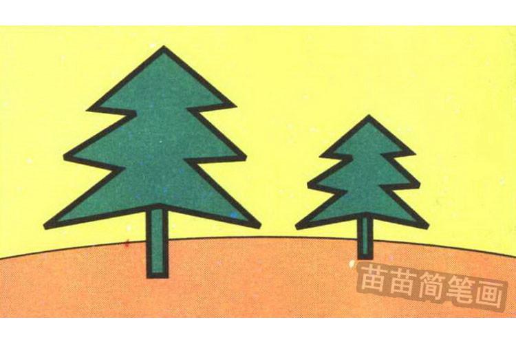 松树彩色简笔画图片