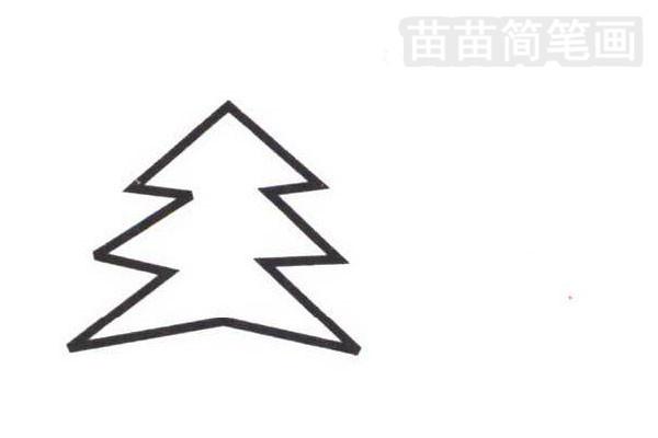 松树简笔画步骤分解彩色教程步骤二