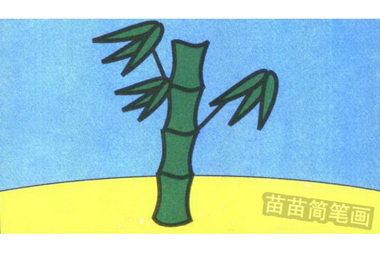竹子彩色简笔画图片