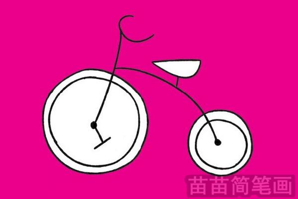 自行车简笔画图片大全作品三