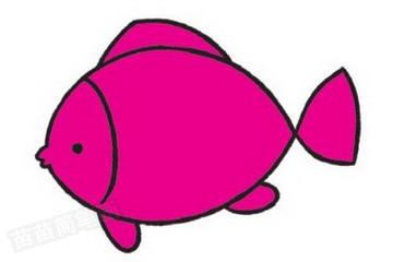 鱼简笔画图片教程步骤三