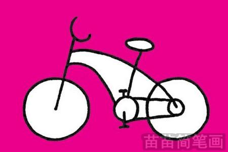 自行车简笔画图片大全作品一