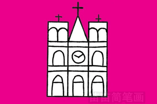 教堂简笔画图片大全作品一