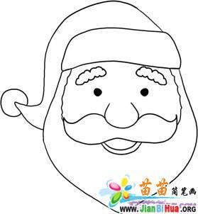 圣诞老人卡通简笔画_雪人简笔画