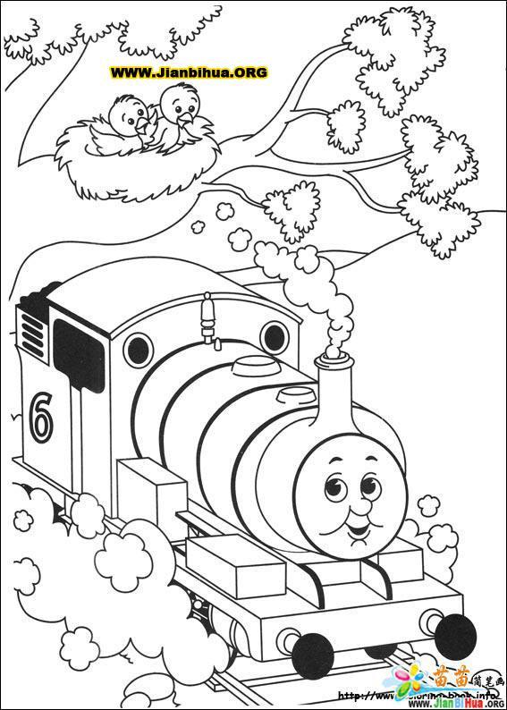 托马斯火车简笔画图片大全_画托马斯火车简单画法