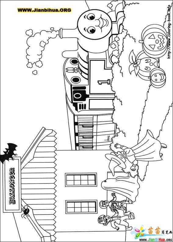 画托马斯小火车简笔画_托马斯小火车简笔画