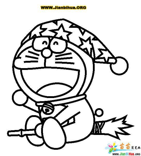哆拉A梦 机器猫 简笔画25张 第4张
