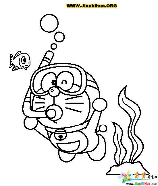 哆拉A梦 机器猫 简笔画25张 第7张