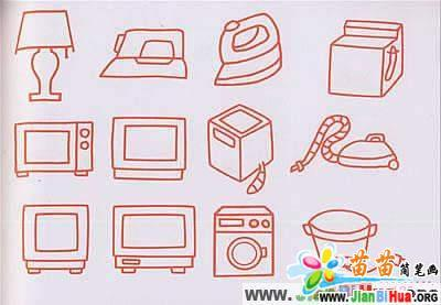 家用电器儿童简笔画图片