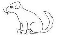 狗简笔画怎么画