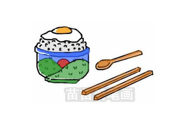 鸡蛋盖饭简笔画