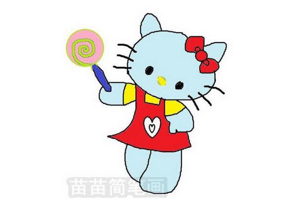 KT猫简笔画