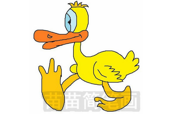 鸭子简笔画