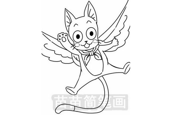 《妖精的尾巴》哈比简笔画