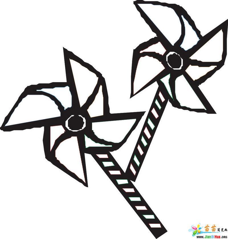 儿童玩具简笔画――风车