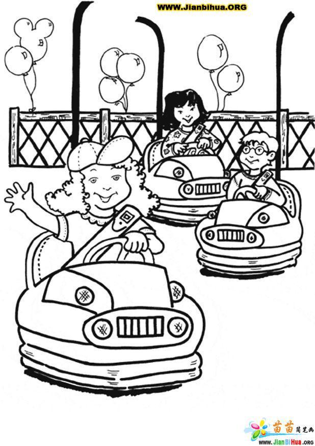 儿童游乐场简笔画13张图片