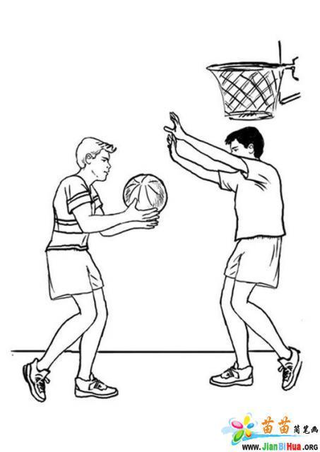 打篮球简笔画图片作品9张