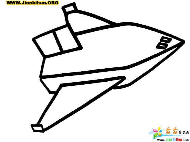 飞机简笔画_直升飞机简笔画_客机简笔画4张