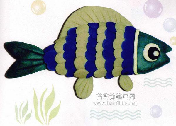 橡皮泥手工制作教程:鱼